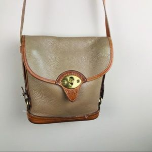 Vintage Dooney and Bourke Calvary Spectator Tan